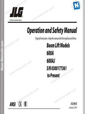 Jlg 600A And 600Aj Operation And Safety Manual