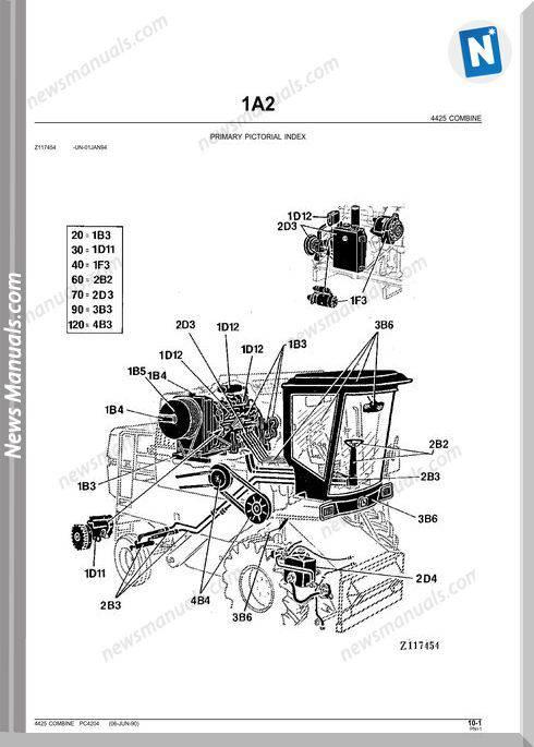 John Deere 4425 Parts Catalog