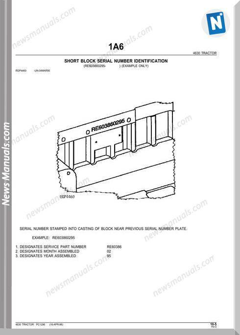 John Deere 4630 Tractor Parts Catalog