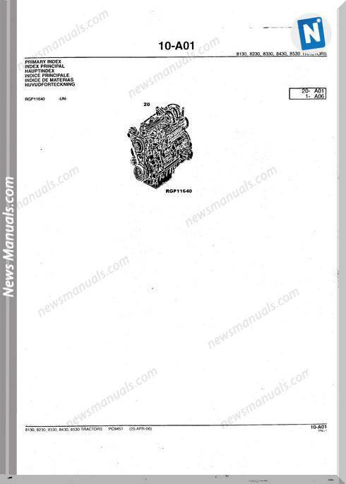 John Deere 8430 Parts Catalog