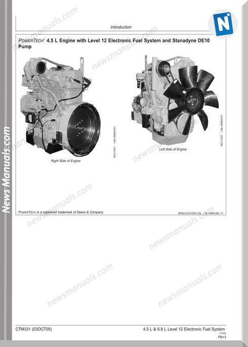 John Deere Power Tech 4.5 6.8L De10 Pump Wiring Diagram