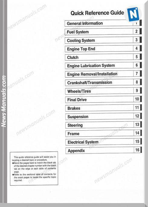 Kawasaki Ninja Zx7R Zx7Rr 96 03 Service Manual