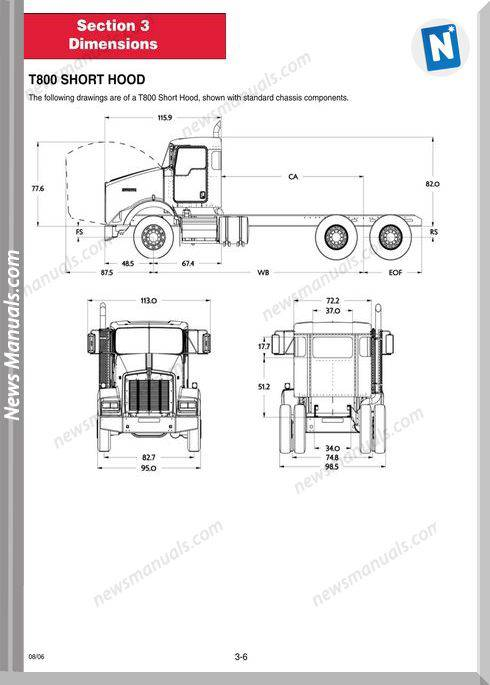 Kenworth-Heavy Duty Bodybuilder T800 Parts Manual