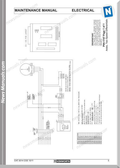 Kenworth K108 And K200 Models Electrical Wiring Diagrams