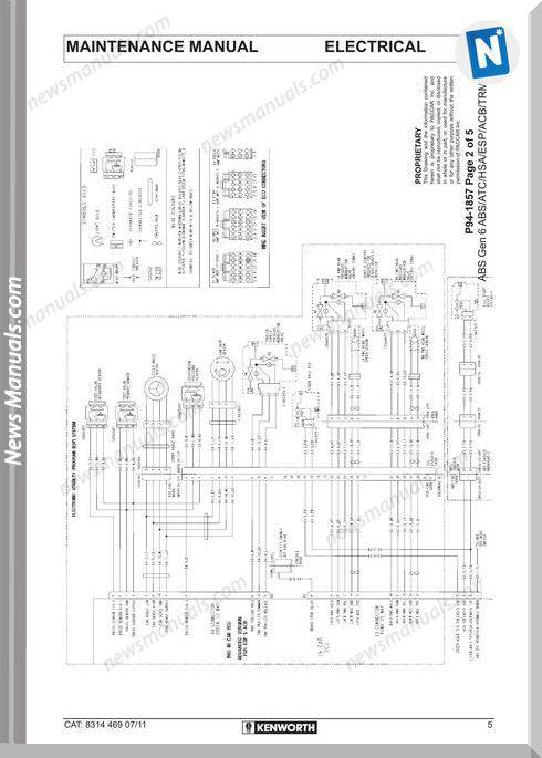 Kenworth Wiring Diagrams T4 T6 T9 Conventional Models