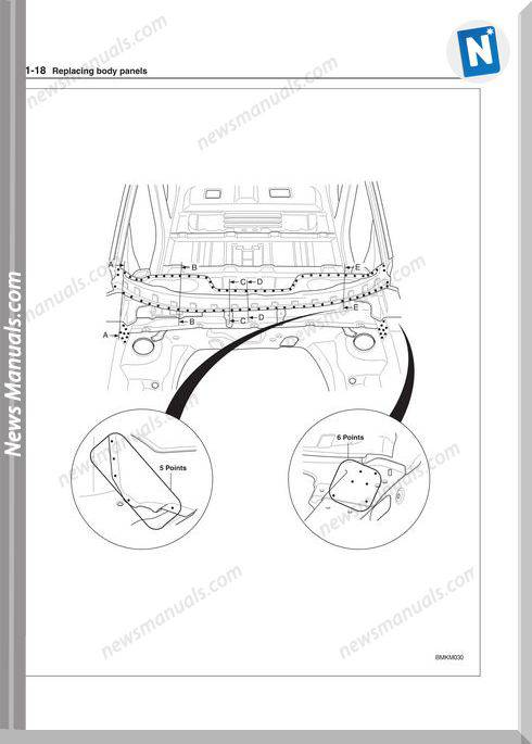Kia Sportage 2004 Body Shop Manual