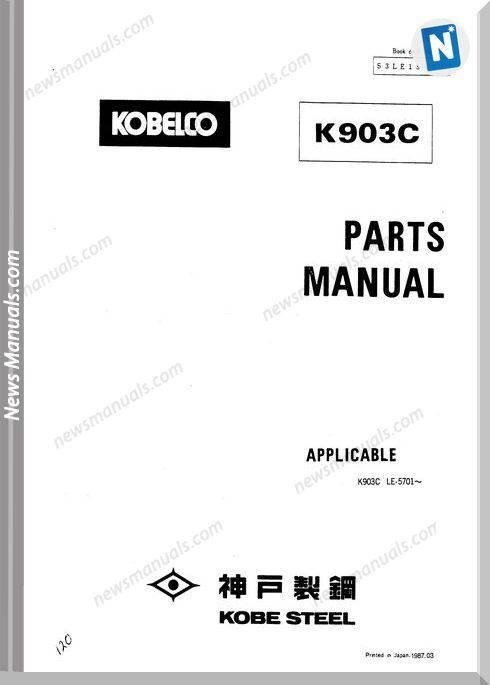 Kobelco K903C Hydraulic Excavator