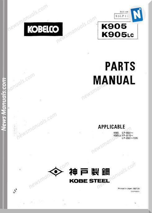 Kobelco K905 K905Lc Hyd Exc