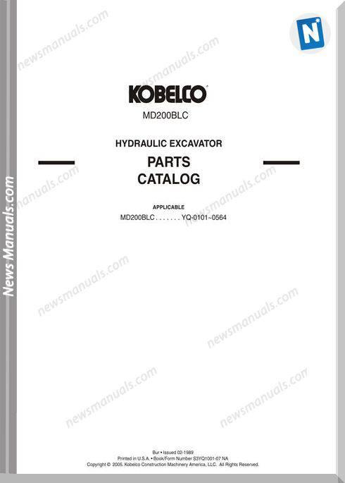 Kobelco Md200Blc Hydraulic Excavator
