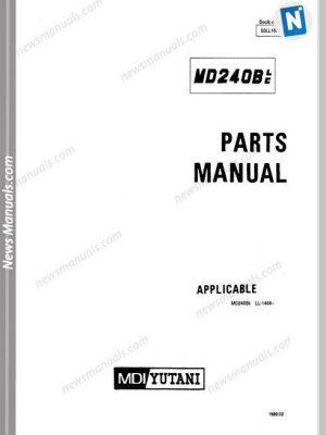 Manitou Forklift M30,M40,M50-2-4-T3-756587 Operator Manuals