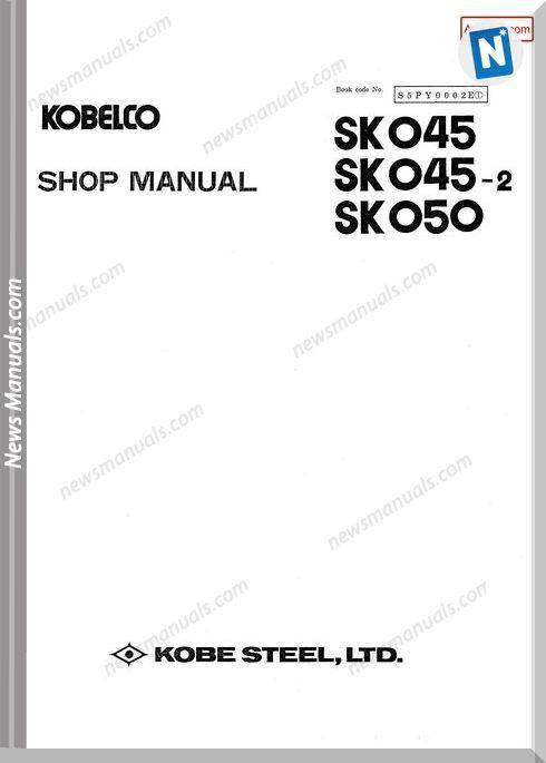 Kobelco Sk045 Sk045 2 Sk050 Hydraulic Excavator S5Py0002E
