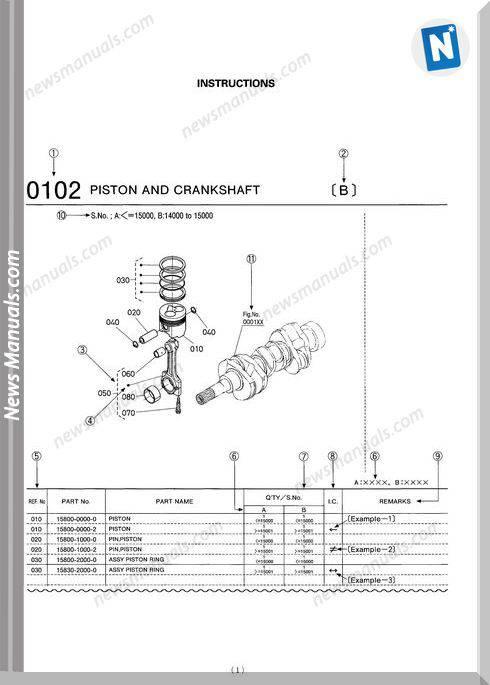 Kobuta Engine V2003M Spare Parts