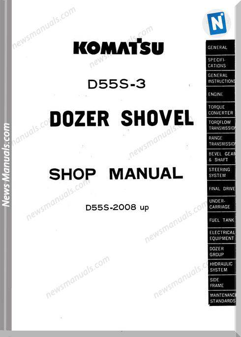 Komatsu Crawler Loader D55S-3 Shop Manual