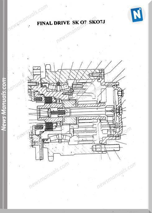 Komatsu Crawler Skid-Steer Loader Sk07J-1 Shop Manual