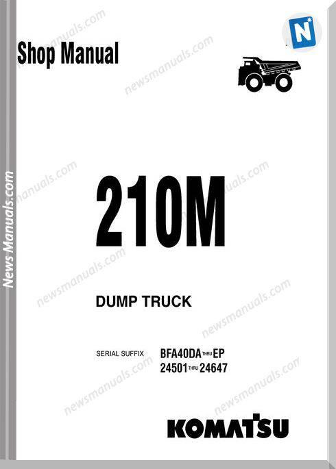 Komatsu Dump Truck 210M Dg715 Shop Manual