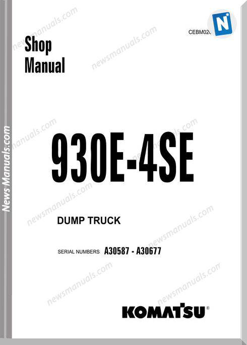 Komatsu Dump Truck 930E 4S3 Shop Manual