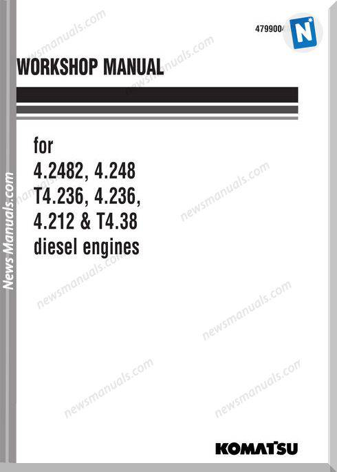 Komatsu Engine 4.212 4.248 T4.236 4.236 Workshop Manual