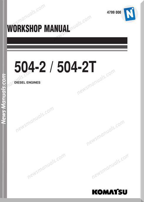 Komatsu Engine 504T-2 Shop Manuals