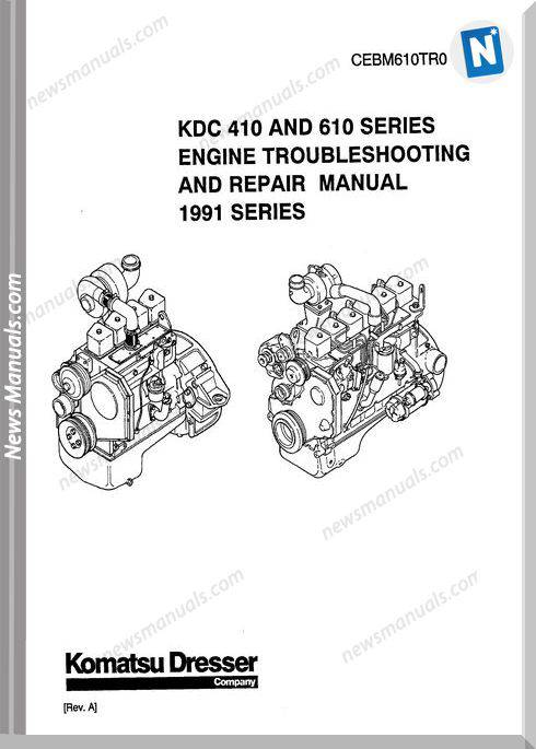 Komatsu Engine 610 Workshop Manuals 3