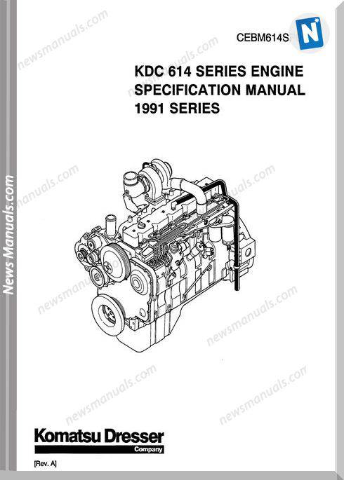 Komatsu Engine 614 Workshop Manuals 2