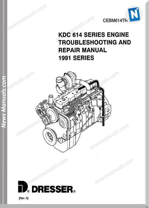 Komatsu Engine 614 Workshop Manuals 3