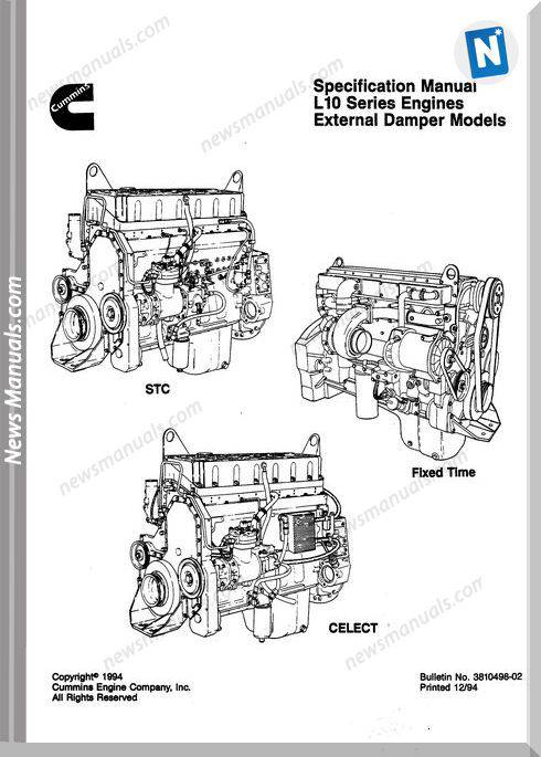 Komatsu Engine Lta 10C Workshop Manuals 3