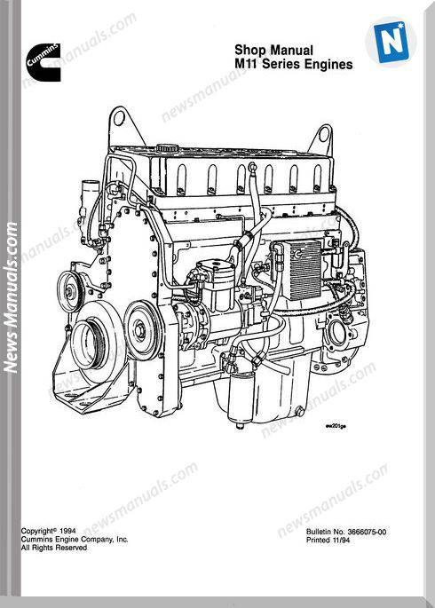 Komatsu Engine Mta11 Shop Manuals