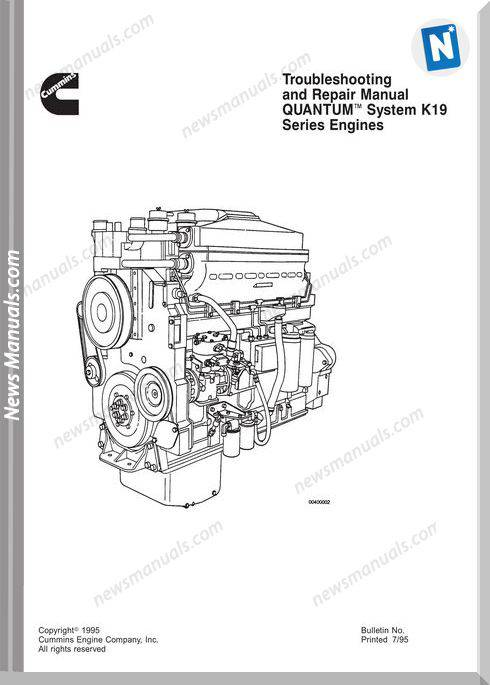 Komatsu Engine Qsk19 Workshop Manuals 1