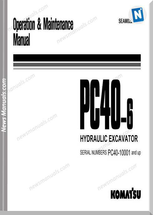 Komatsu Pc40 6 Operation And Maintenance Manual