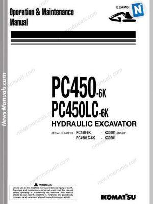Komatsu Pc450 450Lc 6K Operation Maintenance Manual