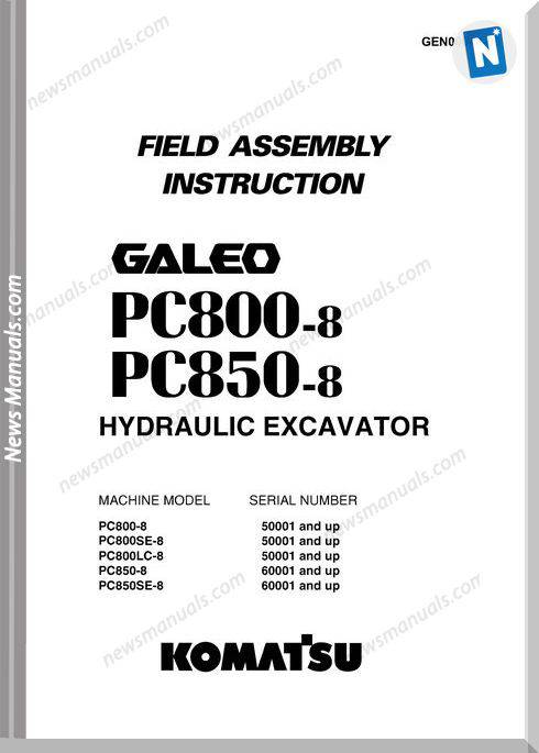 Komatsu Pc800 850 8 Field Assembly Instruction