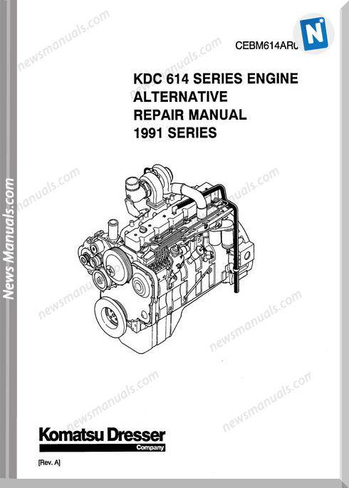 Komatsu Repair Manual Of 614 Series Engine