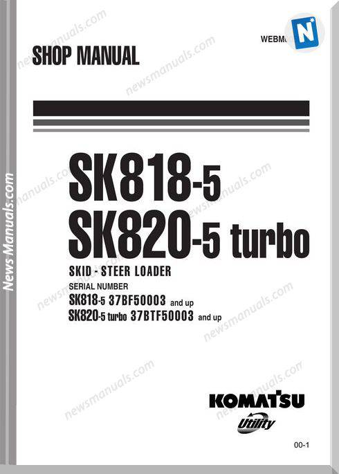 Komatsu Sk818 820 5 Turbo Shop Manual