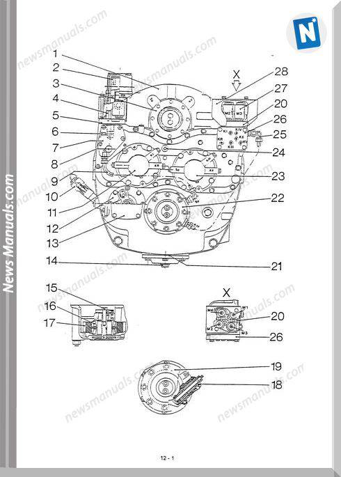 Komatsu Wheel Loaders 70E G423 Transmission Shop Manual