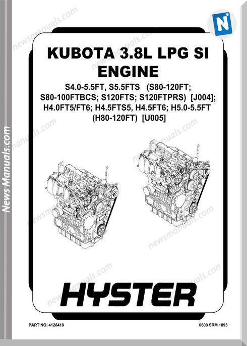 Kubota 3.8L Lpg Si Engine Service Manual