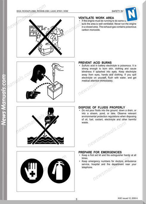 Kubota Bx24 Series Workshop Manual
