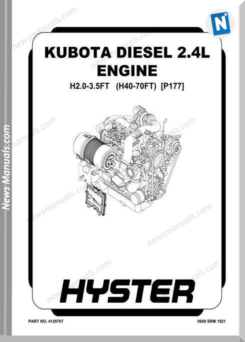 Kubota Diesel 2.4L Engine Service Manual