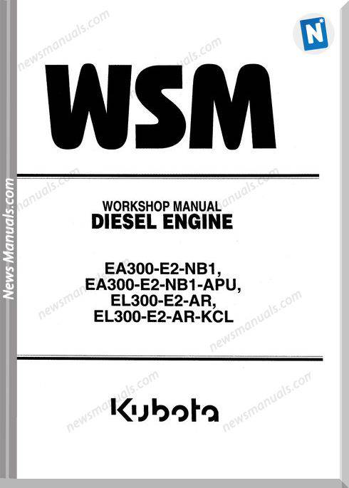Kubota Diesel Engine Eael 300-E2 Series Workshop Manual