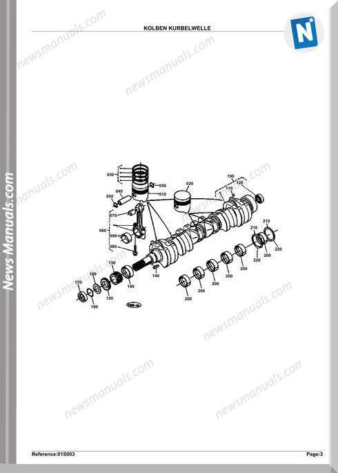 Kubota Engine Kh191Kdg Parts Manuals