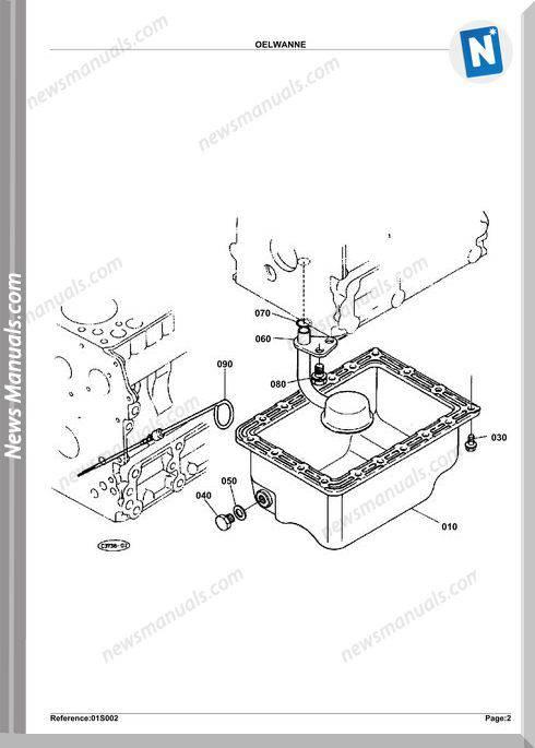 Kubota Engine Kh36H Parts Manuals