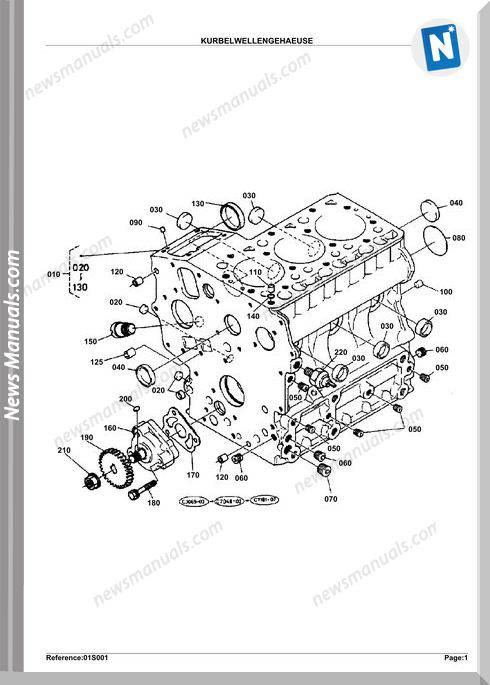 Kubota Engine Kx36Hs Parts Manuals
