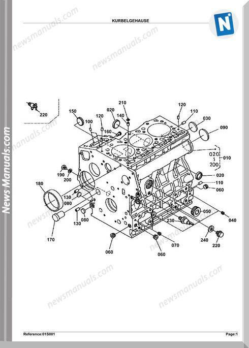 Kubota Engine Kx412 Parts Manuals