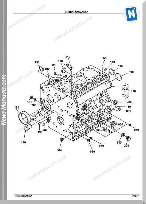 Kubota Engine Kx412Sv Parts Manuals