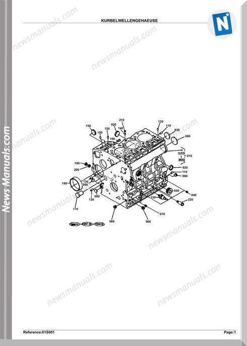 Kubota Engine Kx41H Parts Manuals