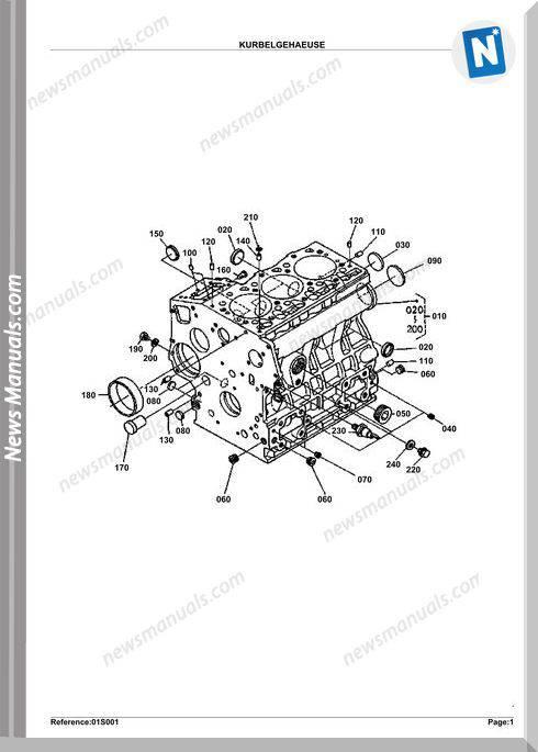 Kubota Engine Kx61-2 Alpha Parts Manuals