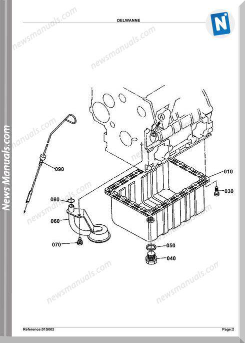 Kubota Engine Kx61-2 Parts Manuals