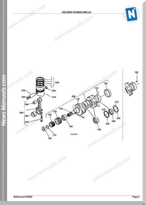 Kubota Engine Kx61H Parts Manuals