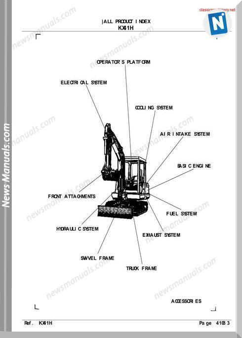 Kubota Kx41H Parts Manual