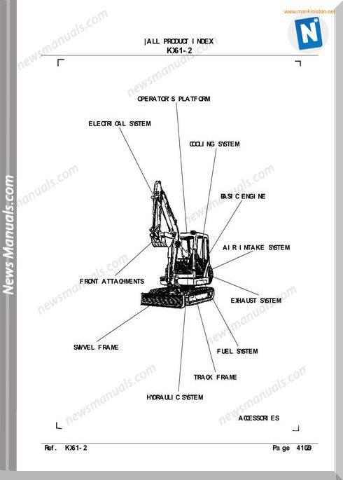 Kubota Kx61 2 Parts Manuals Sec Wat