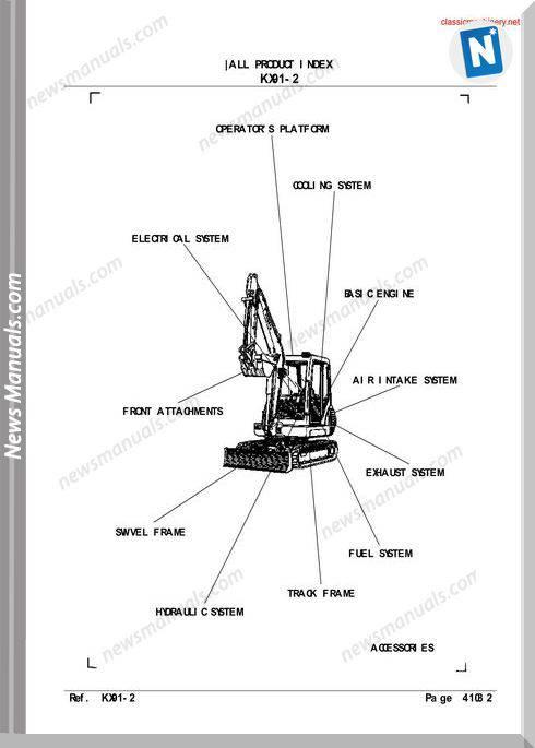 Kubota Kx91 2 Parts Manuals Sec Wat